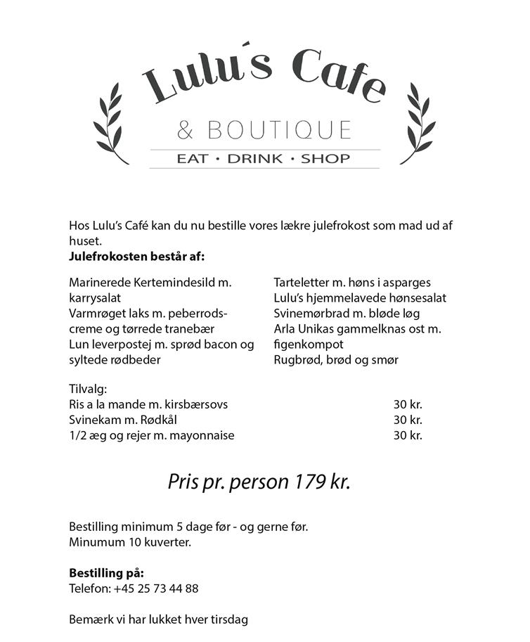 Lulu's Caf'e, Kerteminde Julefrokost